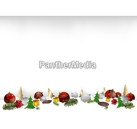 christmas background illustration with ornaments