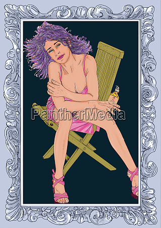 , kobieta, erotyczne, , wyrafinowana, i, zmysłowa - 26094628
