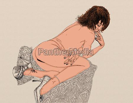 kobieta erotyczne wyrafinowane i zmyslowe linia
