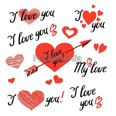 zestaw i love you hand napis