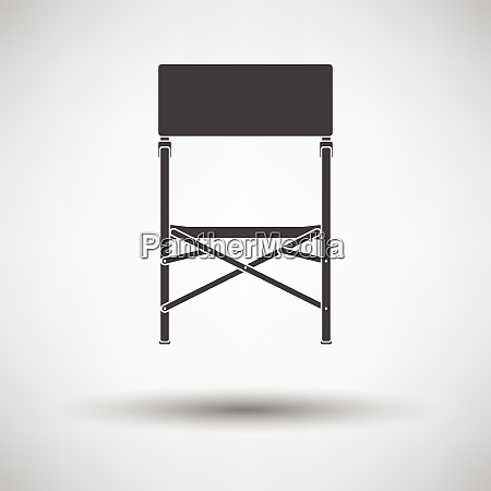 icon of fishing folding chair icon