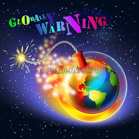 global warming warning concept