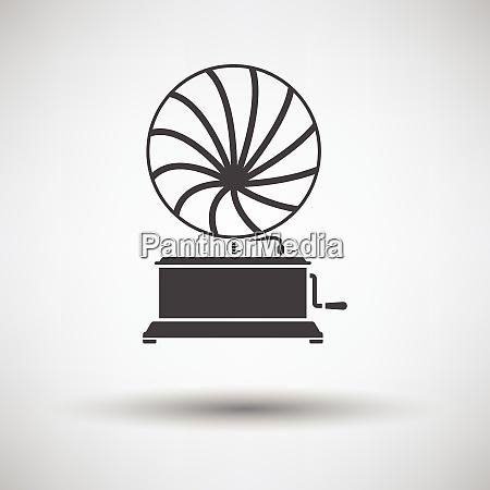 gramophone icon gramophone icon on gray