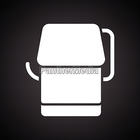 toilet paper icon black background with