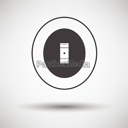 cricket field icon on gray background