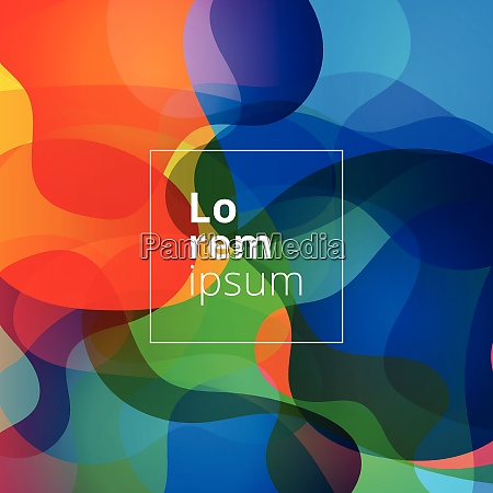abstract shapes bright colorful background vector