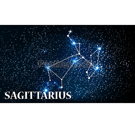 symbol sagittarius zodiac sign vector illustration