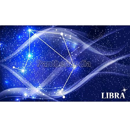 symbol libra zodiac sign vector illustration