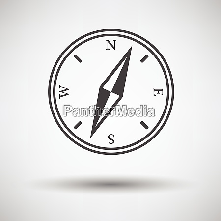compass icon on gray background with
