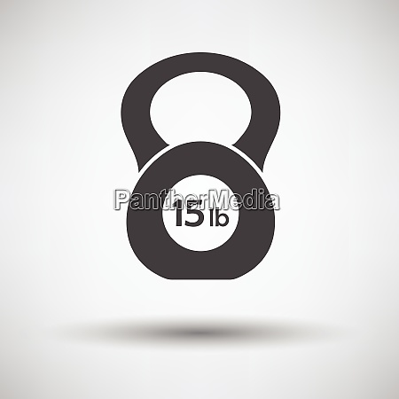 kettlebell icon on gray background with