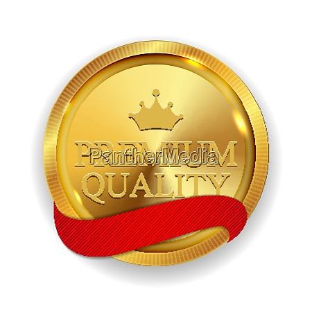premium quality golden medal icon seal