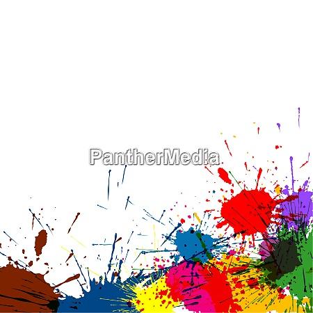 kolorowy atrament splatter farby tlo