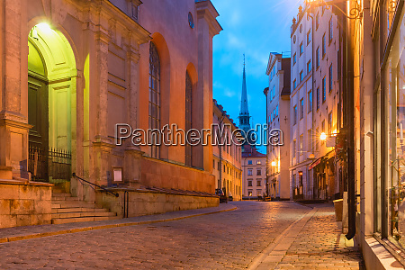 pusta ulica w sztokholm