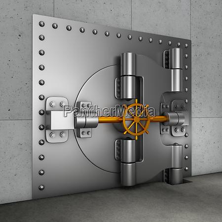 drzwi w skarbcu bankowosci