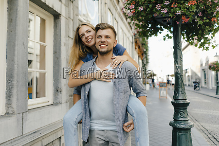 netherlands maastricht happy young couple in
