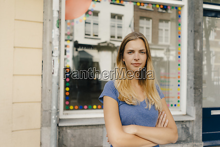 netherlands maastricht portrait of blond young