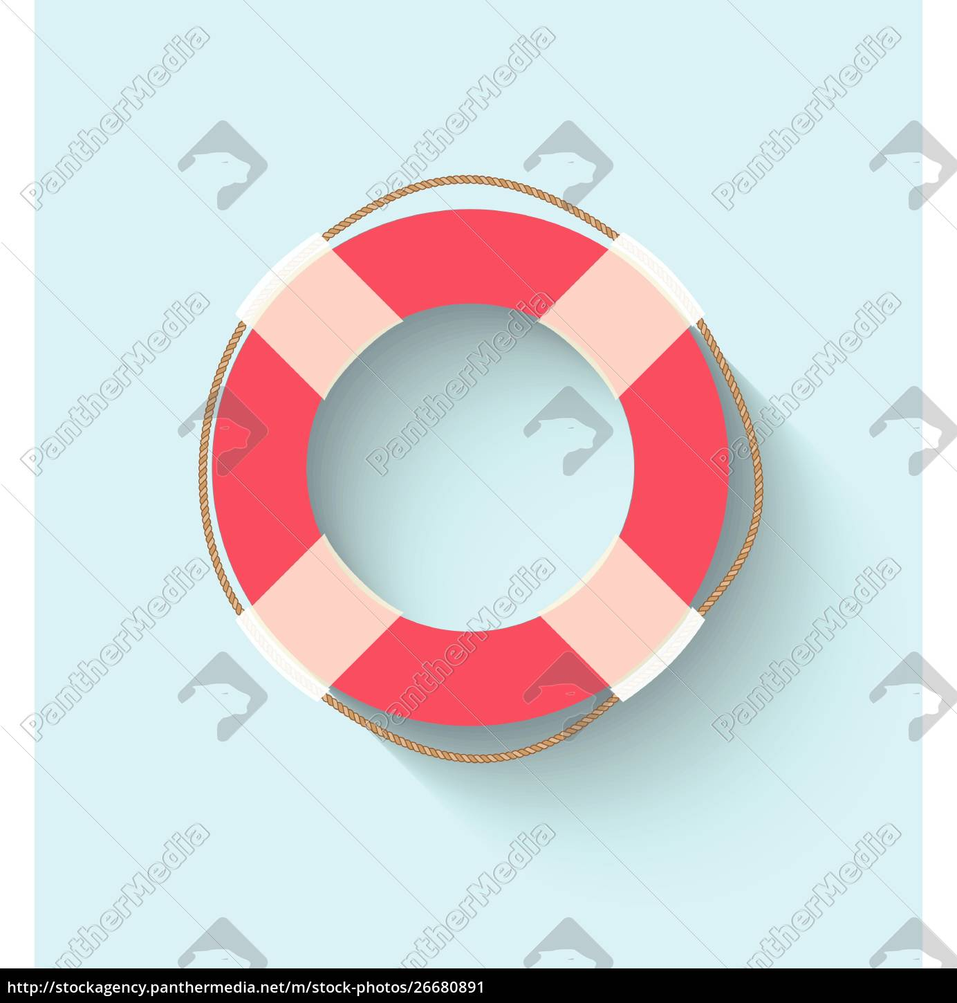 life, buoy, in, flat, style - 26680891