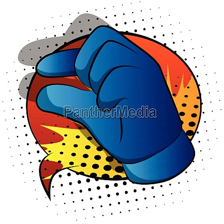 vector cartoon hand gesturing a small