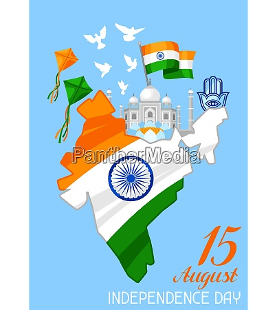 india, independence, day, greeting, card., celebration - 26784685