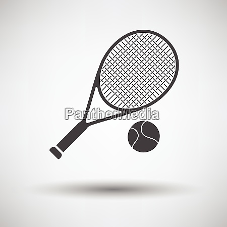 tennis rocket and ball icon on