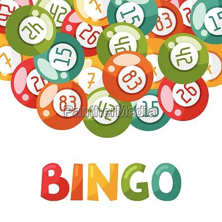 bingo lub ilustracja gry loteryjnej z