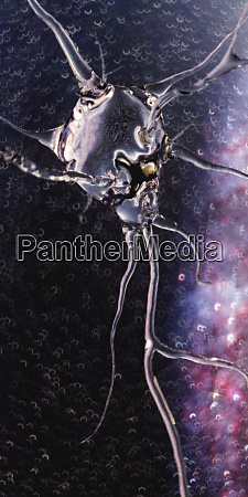 generowany komputerowo polprzezroczysty neuron