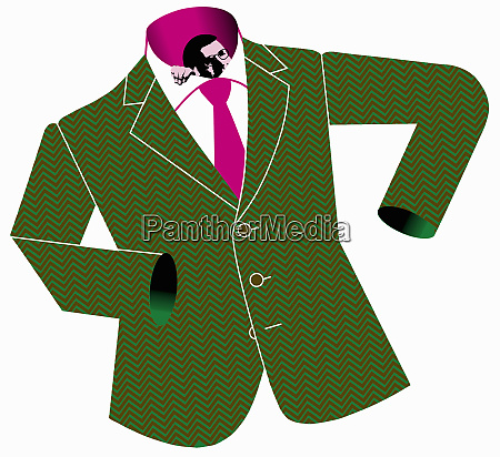 small businessman in too large suit