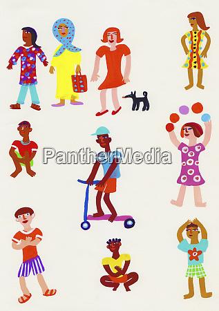 montaz portretow dzieci