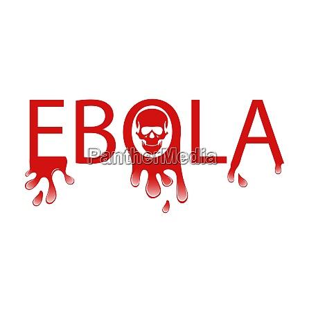 ilustracja ostrzezenie epidemia wirus ebola krwawy