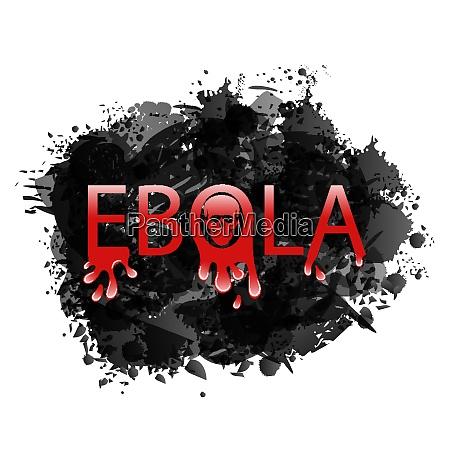 ilustracja ostrzezenie epidemia wirus ebola grunge