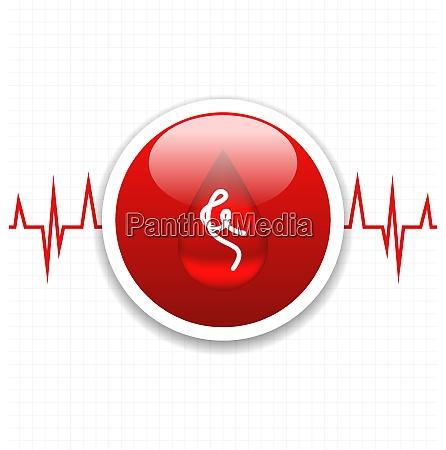 ilustracja, abstrakcyjna, karta, medyczna, ze, znakiem - 26816968