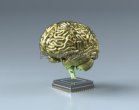 zloty mozg na szczycie jednostki centralnej