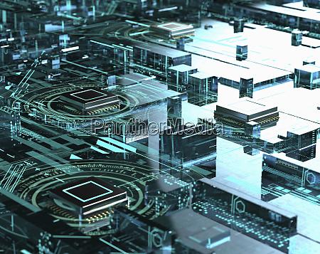kompleksowa siec komputerowych jednostek centralnych