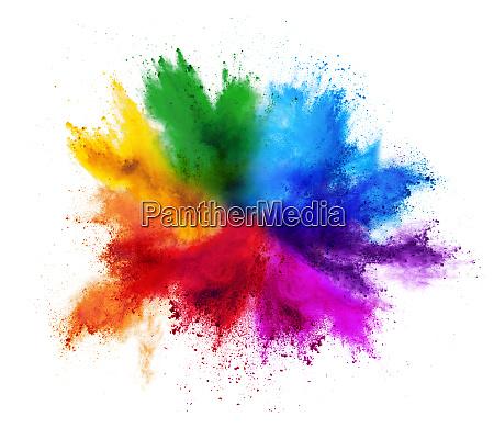 kolorowe tecza holi farba kolor proszek