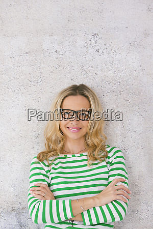 young pretty blonde woman posing in