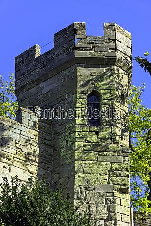 warwick castle kopiec i wieza polnocna