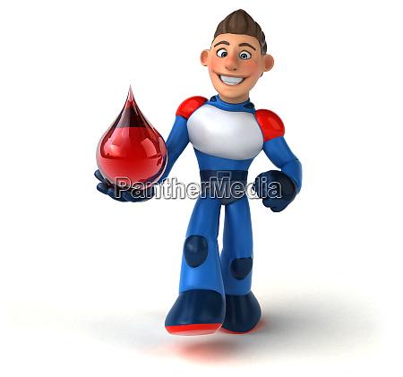 super modern superhero 3d illustration