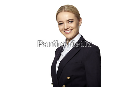 happy beautiful blonde woman smiling