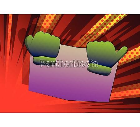 vector cartoon hand holding a book