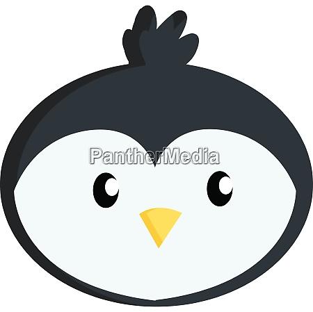 little cute penguin face illustration vector