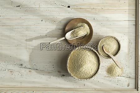 organiczny amarant w miskach basta na