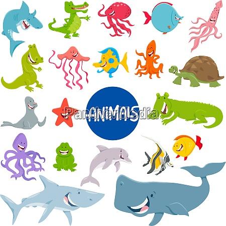 postacie kreskowka morskie zwierze