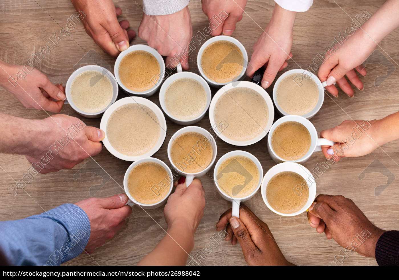grupa, osób, posiadających, filiżanki, do, kawy - 26988042