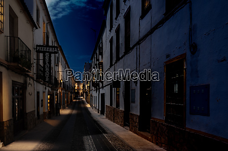 nocturnal andalusian town ronda