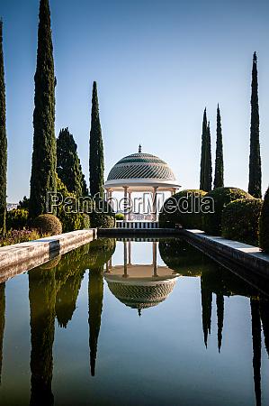 malagas botanic garden pond and promenade