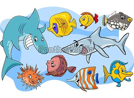 grupa kreskowka morskich ryba zwierze znakow