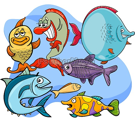 grupa kreskowka postac ryba zabawny zwierze