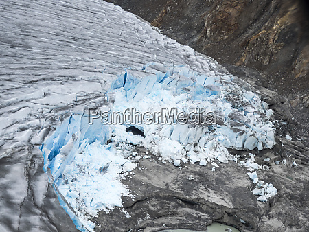 aerial view of the meade glacier