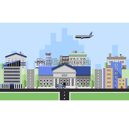 office buildings background with business corporate