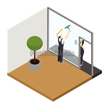 window cleaning in your apartment with
